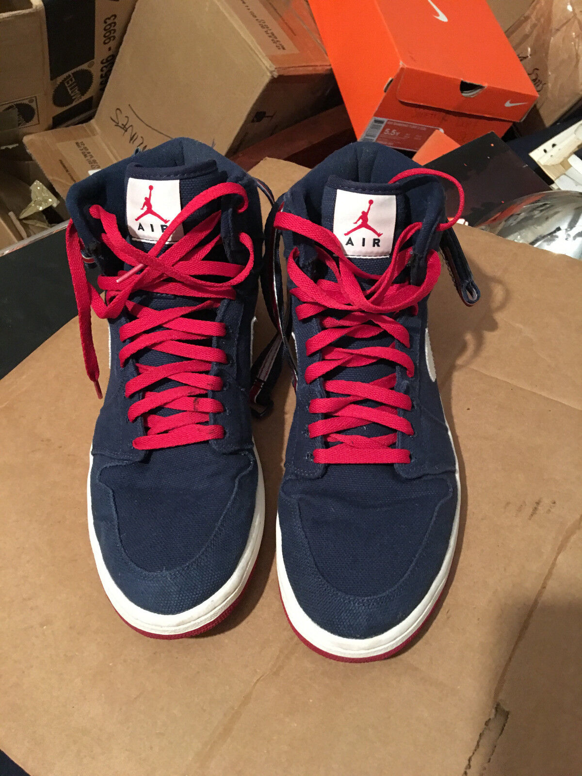NIKE AIR JORDAN 1 HIGH STRAP MIDNIGHT NAVY BLUE-RED Price reduction New shoes for men and women, limited time discount