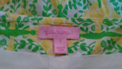 Pulitzer Grün Schmetterling Sz Rock Lilly Gelb Skort Weiß 2 A4PqO