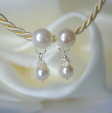 Barock Akoya Perlen Süßwasserperlen Ohrringe Baroque Akoya Pearl Earrings