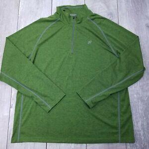 Cloudveil-1-4-Zip-Lightweight-Pull-Over-Mens-XXL-2XL-Green-Long-Sleeve-LS17