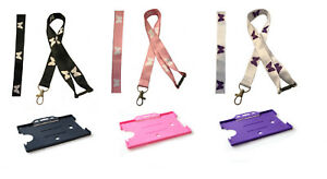 Butterfly Neck Lanyard With Safety Breakaway & Swivel Hook & Matching Cardholder