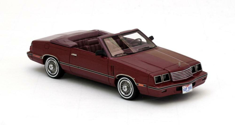 Dodge 600 Converdeible  rosso Metallic rosso  1984 (Neo Scale 1 43   44995)