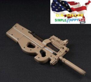 """Échelle 1//6 P90 Fusil Mitraillette Toys arme modèles pour 12/"""" figure ❶ USA ❶"""
