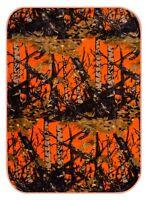 Baby Blanket Super Soft Orange Camo Hunter Throw Crib Blanket