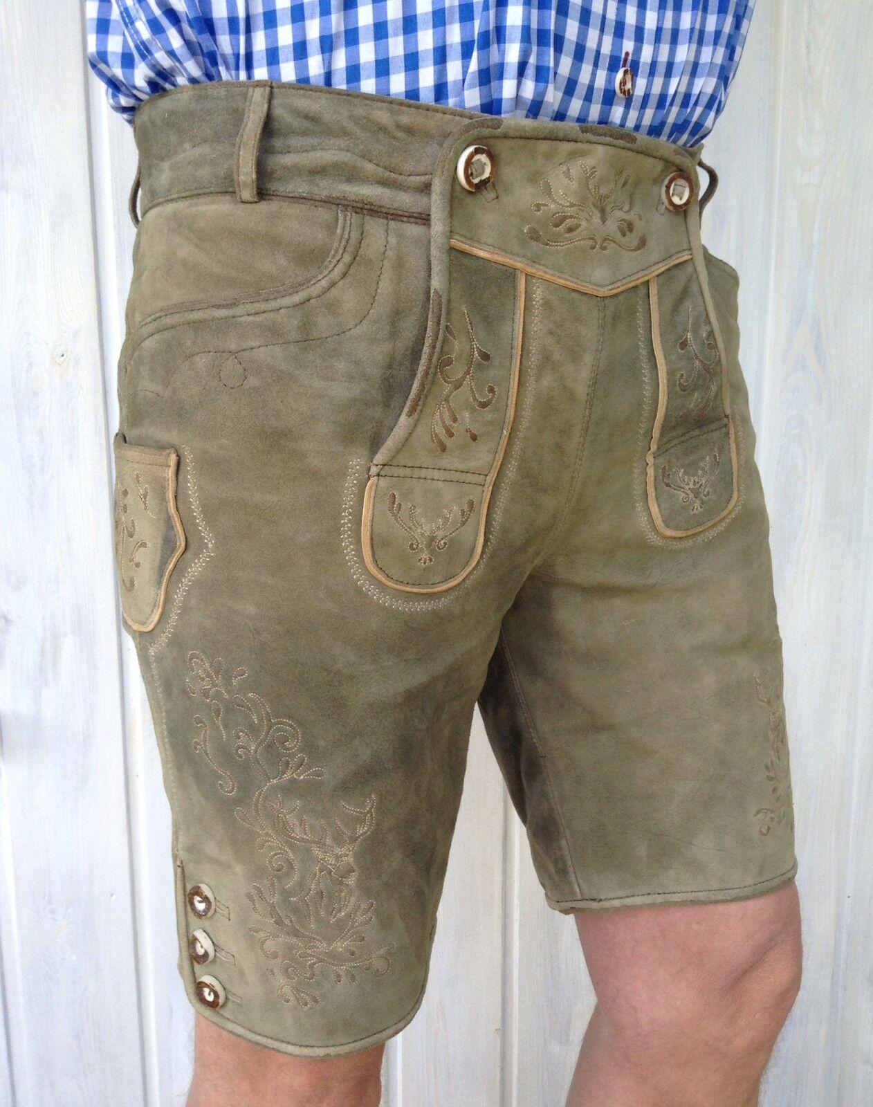 Krüger Buam pantalon cuir de de de gant doux ziegenvelourleder t. 46-58 € 249 Nouveau 49b8e6