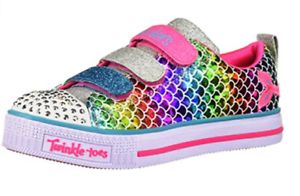 SKECHERS-Big-Girls-Twinkle-Toes-Twinkle-Lite-Sparkle-Scales-SHOES-3-5M-NWOB