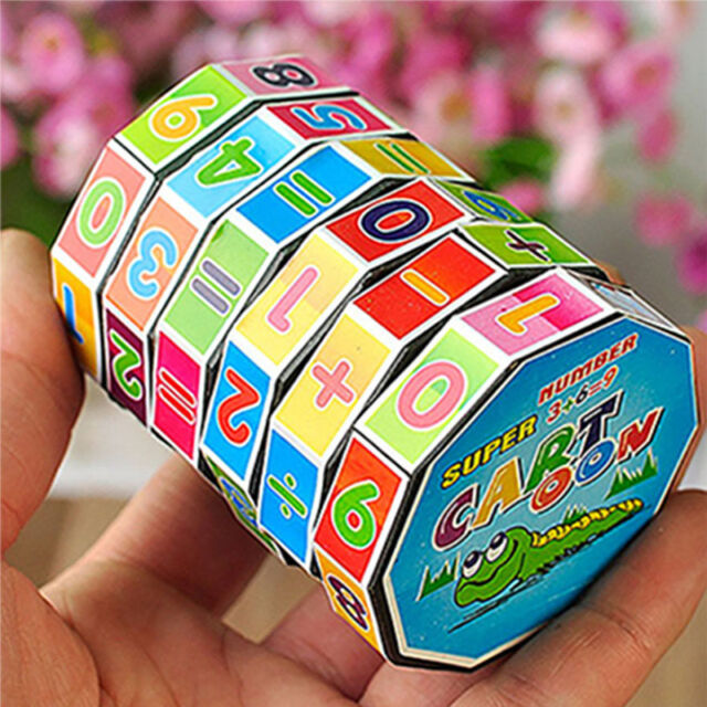 Style Children's Educational Toys Learning Math Digital Cube Toys For Kids
