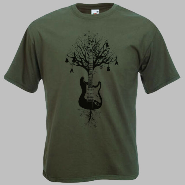 Guitar T-Shirt MEN. Mens guitar Tree 't shirt'.