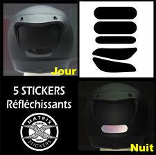 5 Stickers NOIRS RETRO-REFLECHISSANTS pour CASQUE - mod.4 -