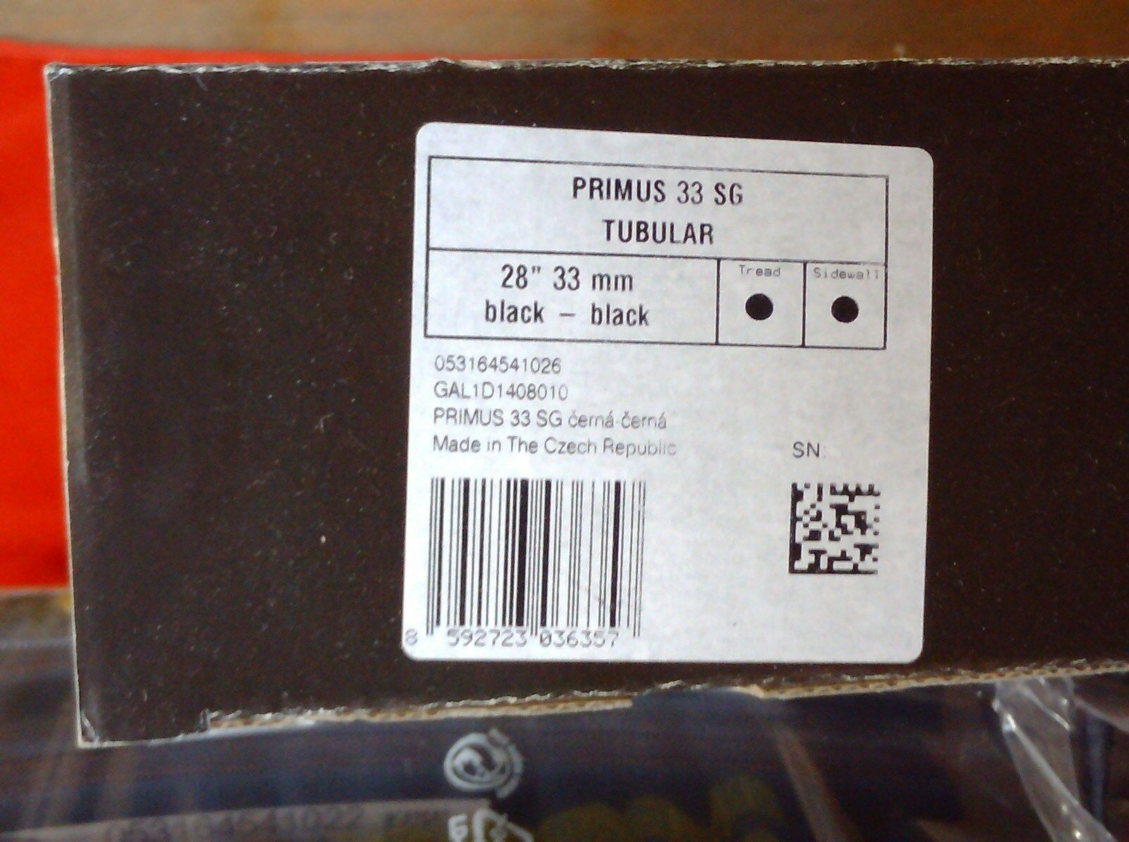 TUFO PRIMUS 33 SG HAND MADE CYCLOCROSS  TUBULAR TYRE  700 x 33mm