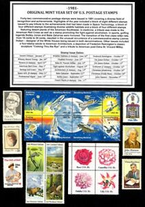 1981-COMPLETE-YEAR-SET-42-STAMPS-OF-MINT-NH-MNH-VINTAGE-U-S-POSTAGE-STAMPS