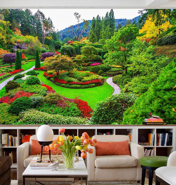 3D Botanischer Garten Fototapeten Wandbild Fototapete Bild Tapete Familie Kinder | Für Ihre Wahl  | Vogue  | Louis, ausführlich