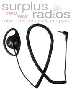 3.5MM Listen Only Earpiece for Motorola Kenwood Vertex Yaesu ICOM Ham Radio Mic