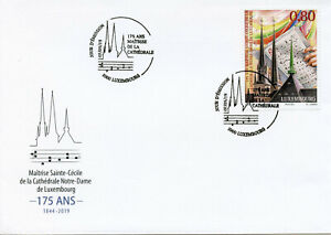 Luxembourg-2019-FDC-maitrise-Sainte-Cecile-Cathedrale-Notre-Dame-1-V-Cover-STAMPS