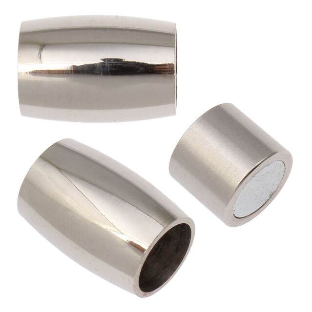 5PCs High Quanlity Stainless Steel Magnetic Clasp Tube 14x10mm Jewelry Making