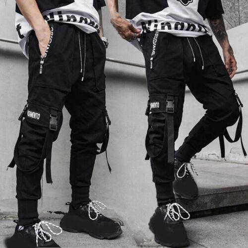 Herren Multi-Taschen Haremshose Jogger Hose Cargo Combat Street Hip Hop Locker