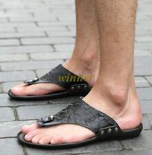 4bbe93d51470 Fashion Mens Synthetic leather casual Beach Flip Flops Sandals Shoes Plus Sz