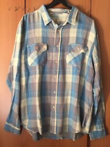 Clothing Taille Flannel Chemise 1950 Vintage Shorthorn XL Levi's RHxn85
