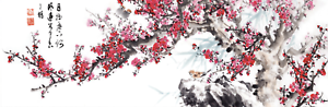 Jigsaw-Puzzle-600-Pieces-Korean-Traditional-Art-Painting-Plum-Blossom-and-Poetry