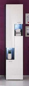 badezimmer hochschrank hochglanz wei und grau badschrank badm bel schrank tetis ebay. Black Bedroom Furniture Sets. Home Design Ideas