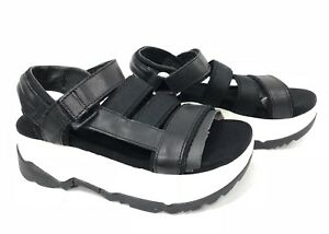22601f92f63 Details about Teva Zamora White black Platform Sandals Women s Shoes sizes  1015177 Strappy