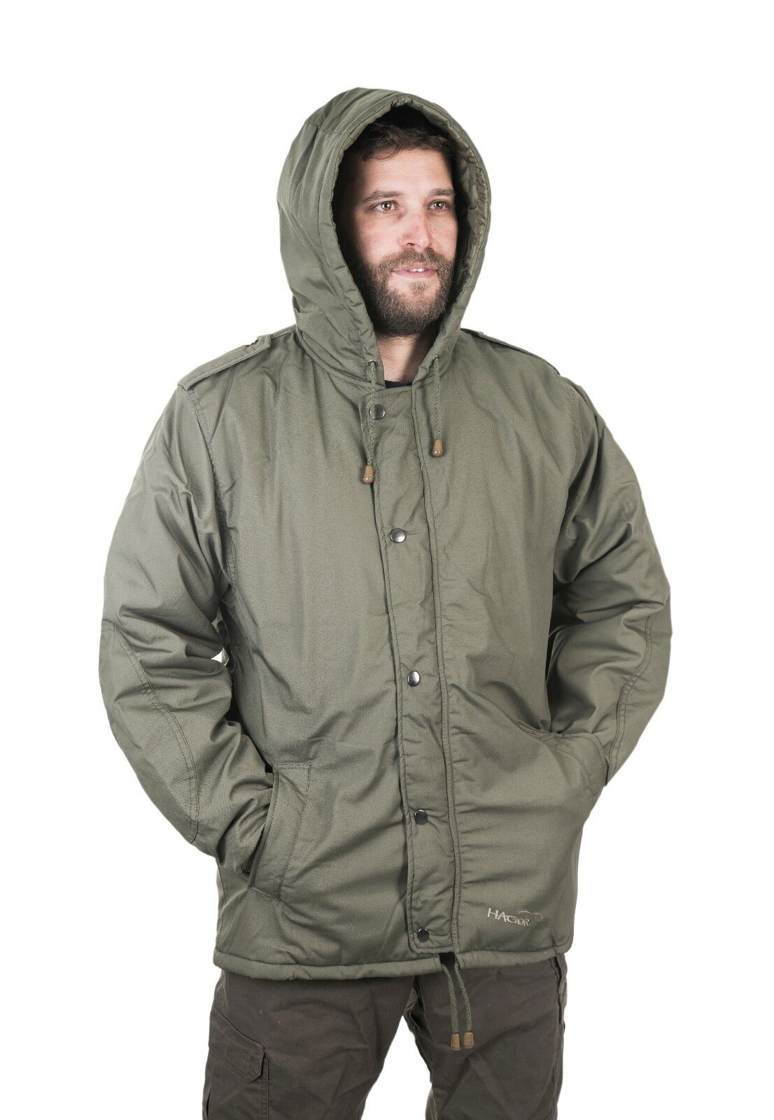IDF Green  Doobon Dubon Cold Weather Hooded Coat Parka by Hagor Israel