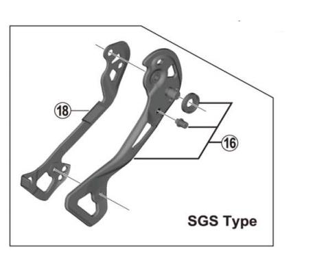 Shimano RD-M9000 inner plate SGS