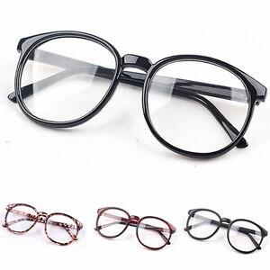 affeac2d6e5 Image is loading Fashion-Unisex-Clear-Lens-Eyeglasses-Frame-Retro-Round-