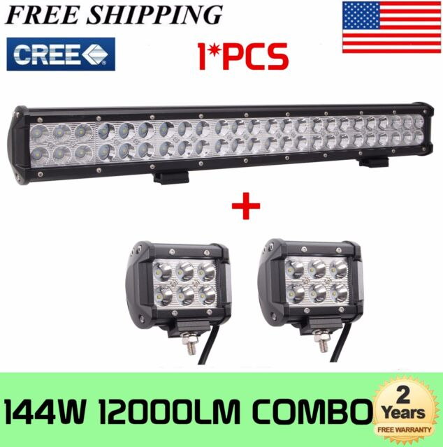 22 inch 144w cree led work light bar offroad spot flood boat truck 22 inch 144w cree led work light bar offroad spot flood boat truck free aloadofball Gallery