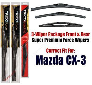 Wiper Blades Trico 3 Pack Rear Fits 2016 Mazda Cx 3 25220 190