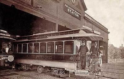 Arlington Ma Street Trolley Station Postcard Print