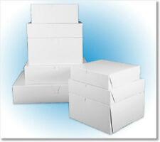 "8"" X 8"" X 5"" WHITE CAKE BOX, PASTRY, BAKERY, 1-PIECE/LOCK CORNER (10 BOXES)"