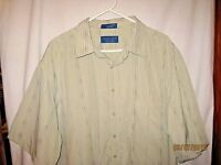 Towncraft Size 2xlt Short Sleeve Button Up Shirt