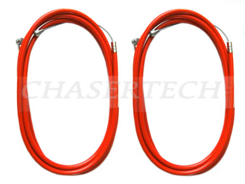 New MTB Road BMX Bicycle Bike Universal Brake Cable w// Housing Red 2 Pieces