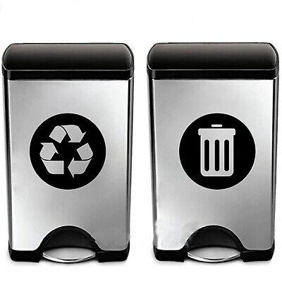 8Pc//Set Trash Can Decor Classification Sign Vinyl Art Decal Sticker  Recycle Bin