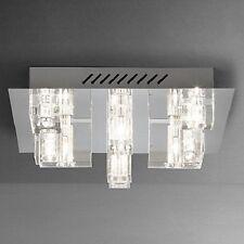 John Lewis Brody Modern Square Glass 9 Light Semi Flush Ceiling Light Fitting