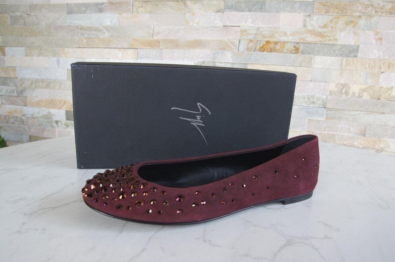 Giuseppe Zanotti Zanotti Zanotti N. 41 Ballerine slipper scarpe Pinot ROSSO NUOVO ex. UVP | The Queen Of Quality  | Sig/Sig Ra Scarpa  e18bdd