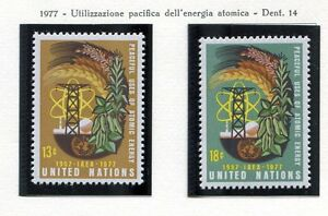 19142-UNITED-NATIONS-New-York-1977-MNH-Atomic-Energy-2v