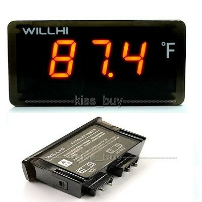 -58℉~230℉ LED Digital Thermometer Temperature + Sensor water tanks 110V 220V yel