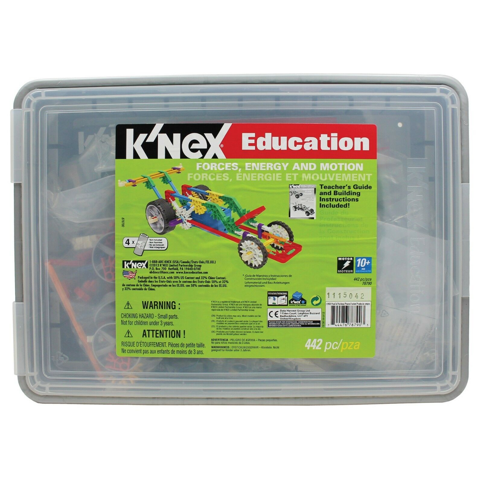 KNEX Education STEM Forces Energy and Motion Set 78790 NEW