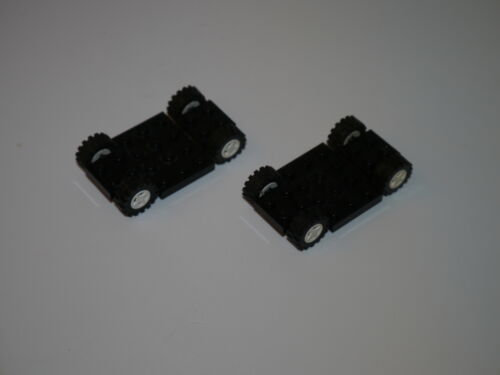 2 Lego CITY Fahrzeug Auto Fahrgestell Zubehör SCHWARZ CAR CARRIAGE CHASSIS