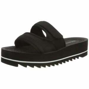 Ladies-Girls-Rocket-Dog-Manto-Slip-On-Open-Toe-Slide-Slider-Sandal-Black-New