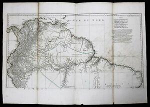 Card-AMERICA-South-Jean-Baptiste-Bourguignon-D-039-Anville-1697-1782