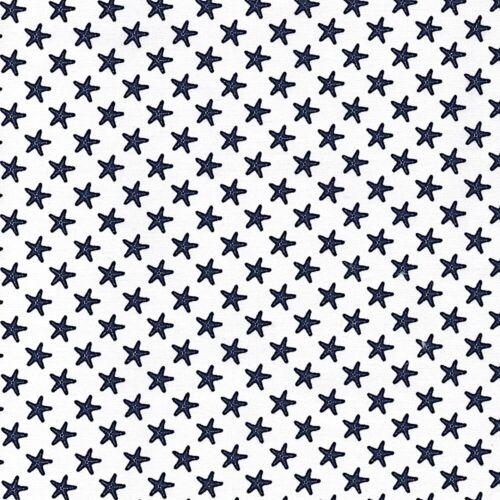 Navy Righe Tessuto a Quadretti Pois Stelle 100/% Cotton Tessuto Vivaio Patchwork