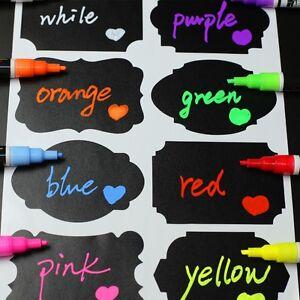 1-X-WHITE-Neon-Fluorescent-Liquid-Glass-Chalk-Marker-Pen-Blackboard-Glass-Menu