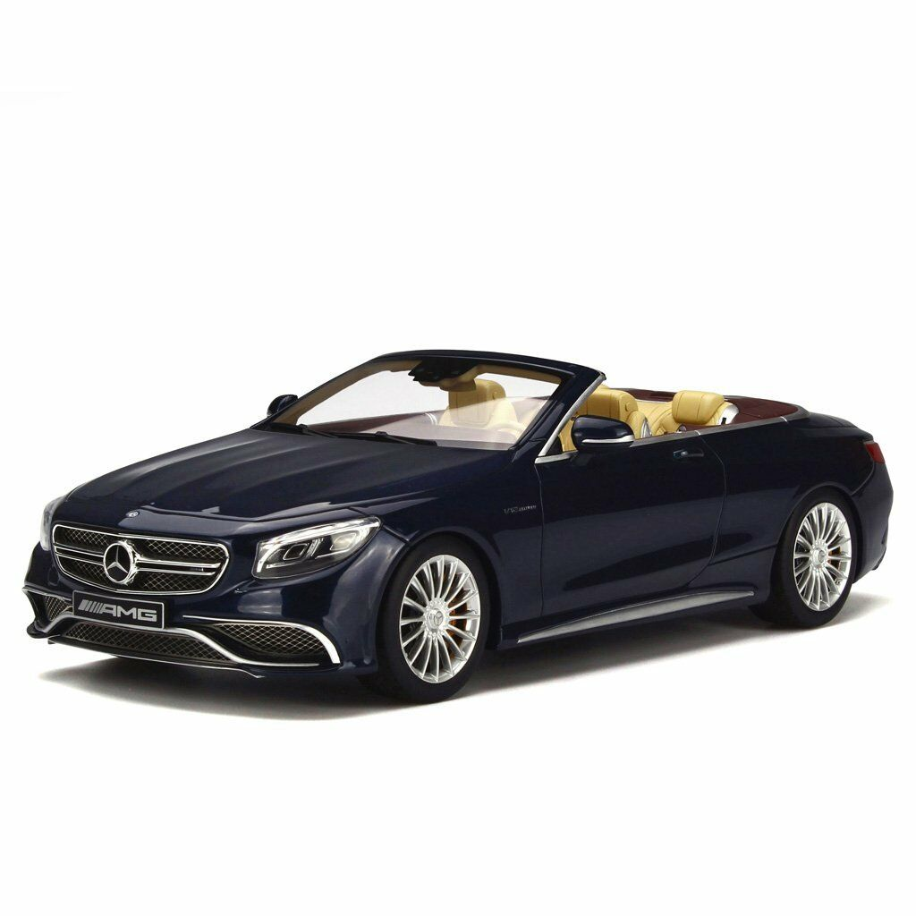 GT Spirit 1 18 Mercedes AMG S65 Converdeible azul Resin Car Model GT153