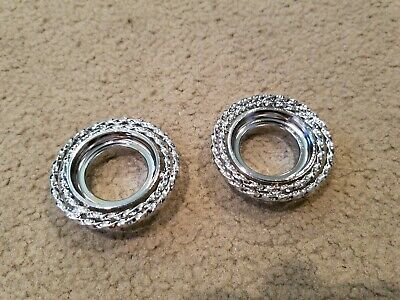 2NEW CHROME  DOUBLE TWISTED TOP BEARING CUPS FOR FORK LOWRIDER,CRUISER BICYCLES