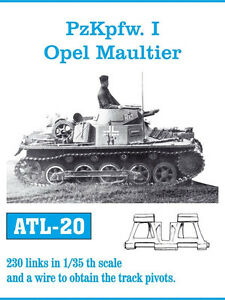 Details about 1/35 ATL20 FreeShip FRIULMODEL TRACKS for GERMAN PANZER I B &  OPEL MAULTIER