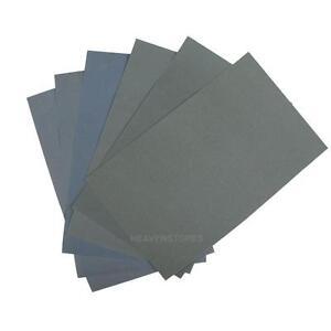 6x-Wasserfest-Schleifpapier-Schmirgelpapier-P600-1000-1200-1500-2000-2500-LS4G