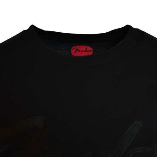 FENDER Men/'s T-Shirt Embroidered logo-Guitar-Rockstar-Concert-100/%Cotton Size:L